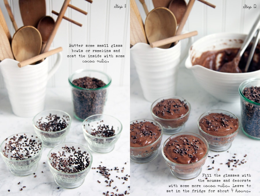 step by step photos for making chocolate mousse