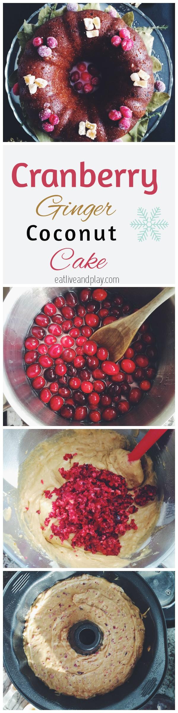 Cranberry Ginger Coconut Cake