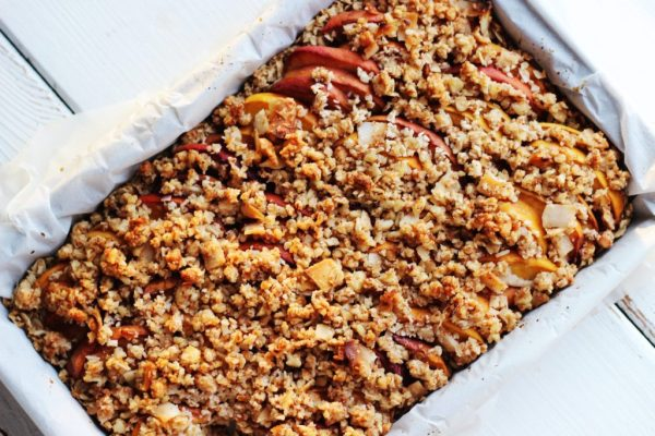 Peach and Toasted Coconut Breakfast Bars Baked ELP