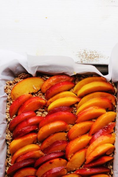 Peach and Toasted Coconut Breakfast Bars Peaches ELP