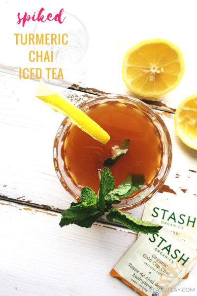 I love tea as a base for a cocktail because its packed with health-boosting antioxidants that help prevent chronic disease.