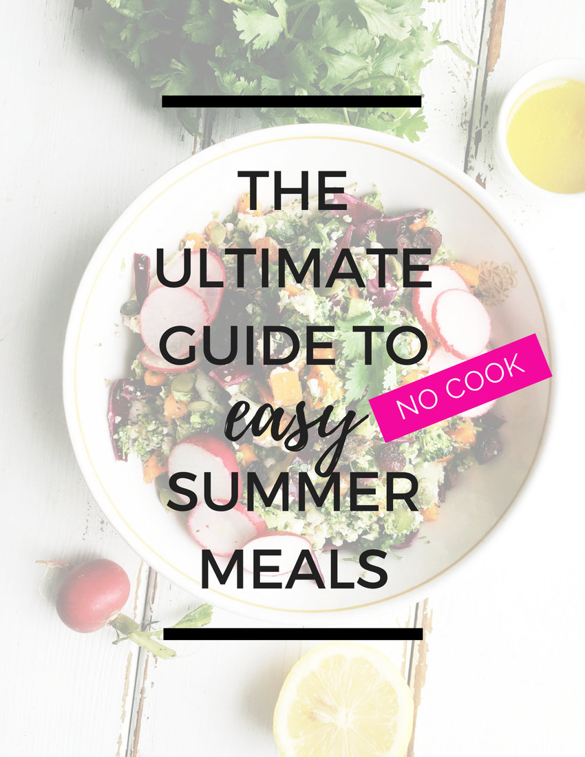 Summer is the perfect time of year to be a lazy cook. When it's too hot to crank up the stove or weeknights are busy keep these easy summer meals tips in mind to save time and soak up the warm lazy days of summer!