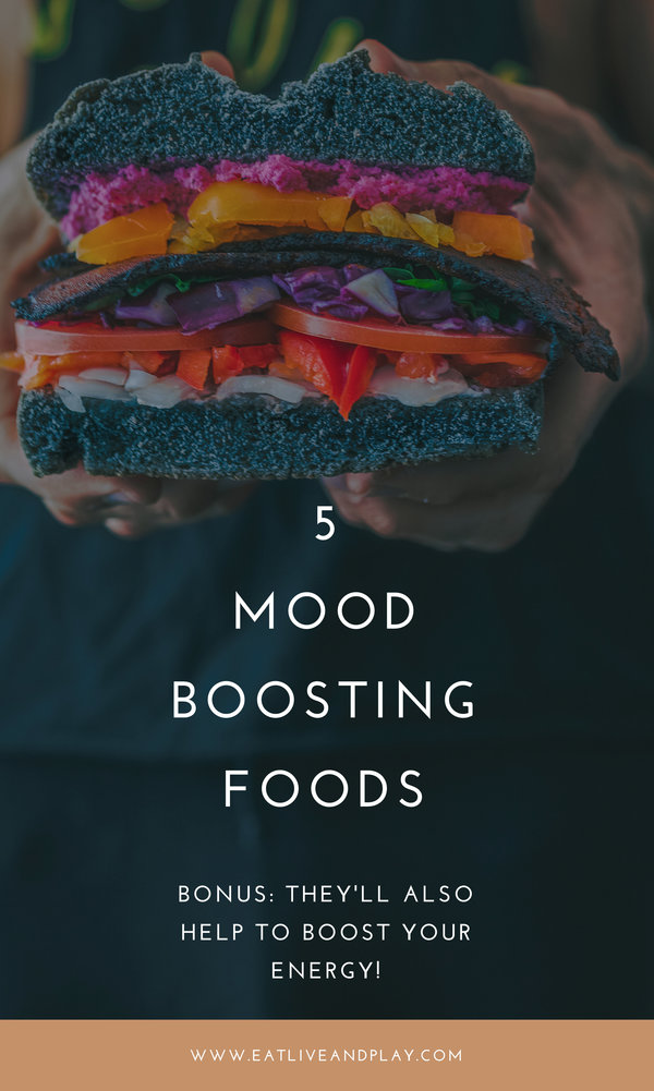 Our brain cells depend on certain nutrients and when we don't get them we don't function as well. The foods we choose to eat are incredibly important to our brain health and mood. Here are 5 mood boosting foods to make you happier!