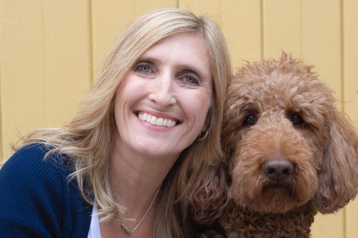 Annika and dog