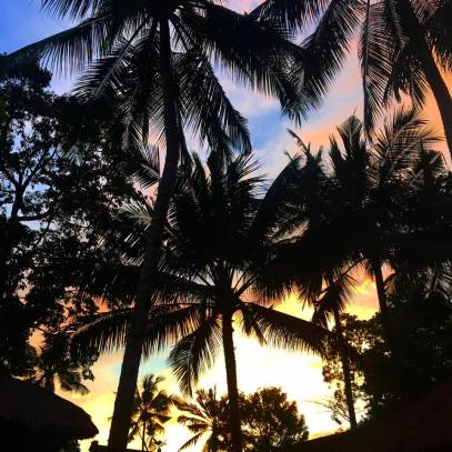 Sunset at Kayumanis Ubud
