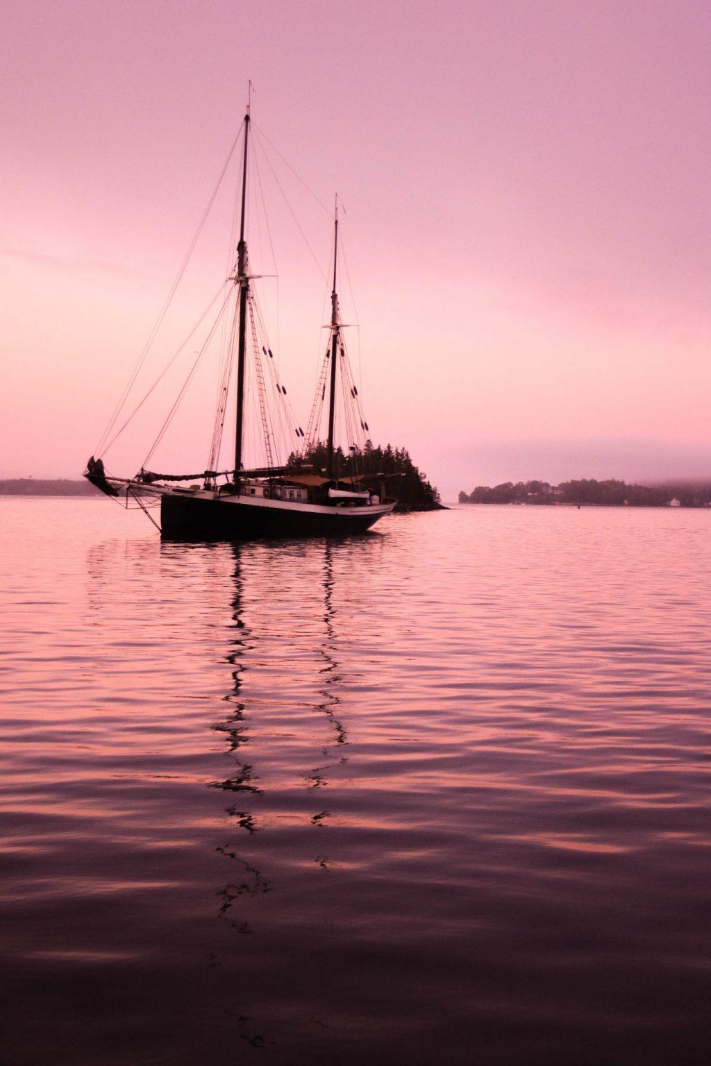 Maine Windjammer Cruise Sunset