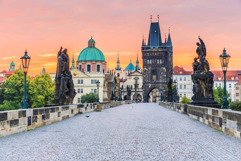 European bucket list destination in Prague: Charles Bridge and Old Town