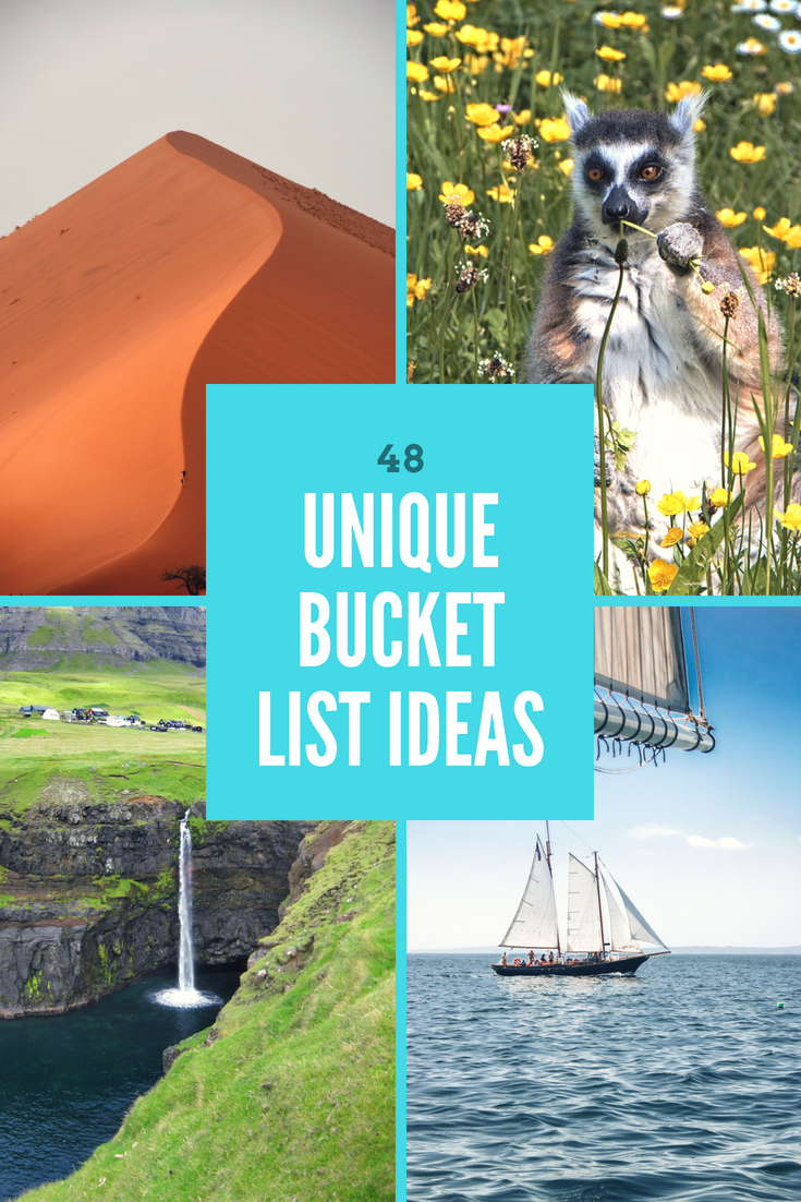 Unique Bucket List Ideas for Travelers who are looking to get off the beaten path and do something a little bit different.