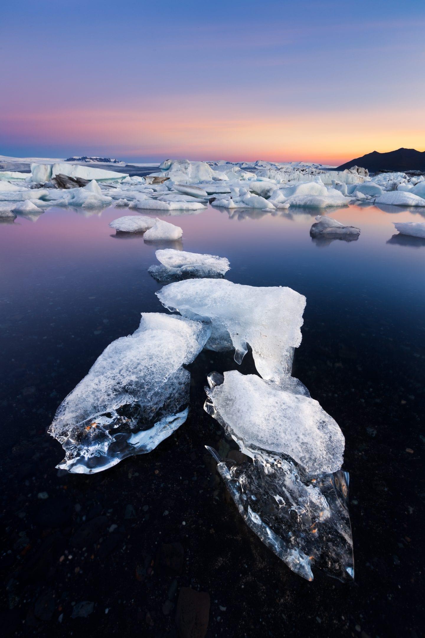 European Bucket list stop, glacier lagoon in Iceland