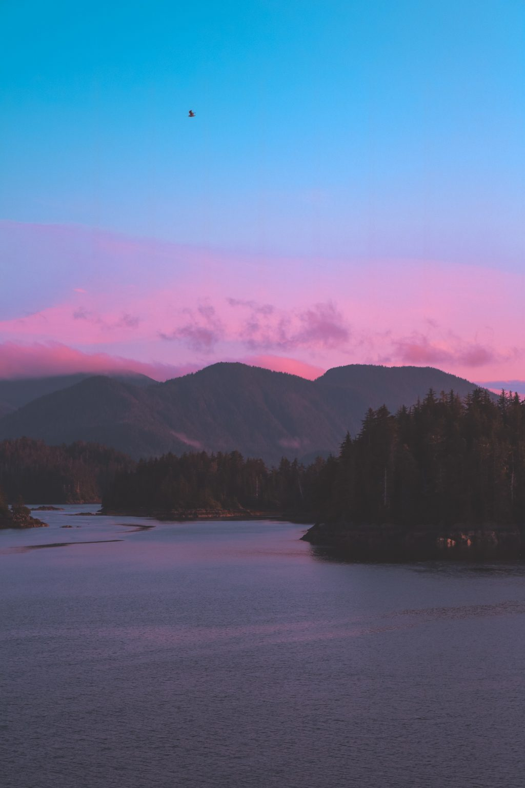 sunset in sitka alaska