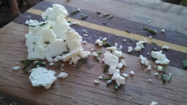 Afternoon workshop on cheese-making so that i know what to do with the forthcoming glut of milk.