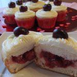 cherries in a cloud cupcakes