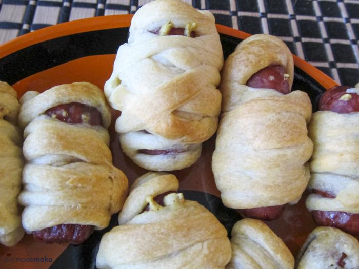 mummy dogs close-up