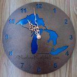 Michigan-clock-Michigan-in-Metal