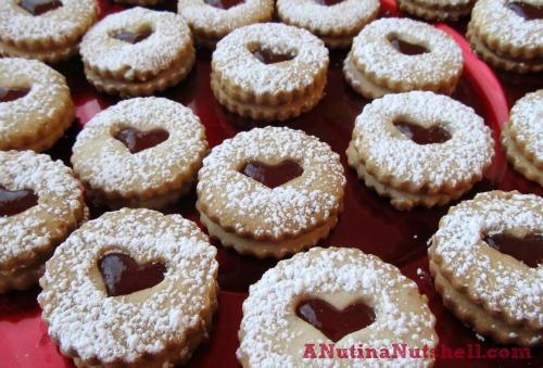 almond-heart cookies