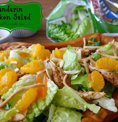 A mandarin chicken salad