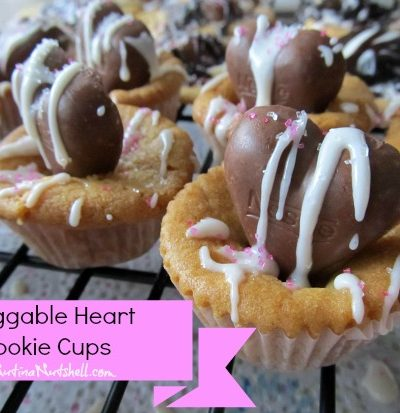 huggable heart cup cookies