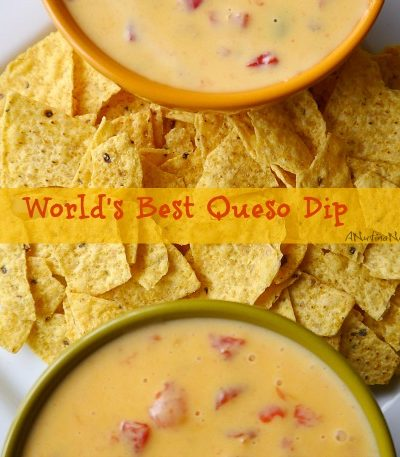 queso dip in bowls