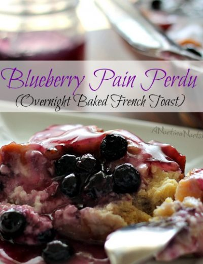 blueberry pain perdu on plate