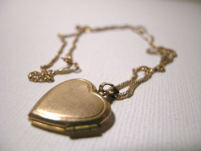 A necklace on a table