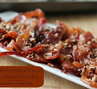 a tray of bacon