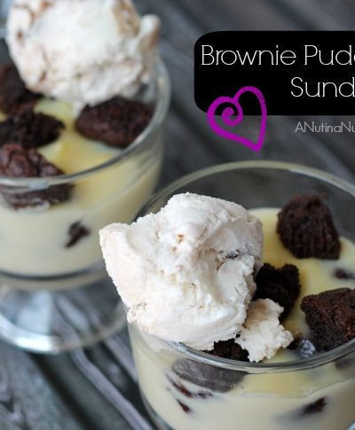 brownie pudding sundae