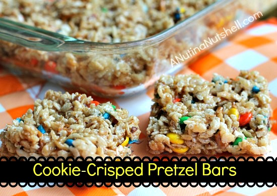 cookie crisped pretzel bars