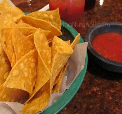 nachos and salsa