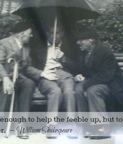 older men on a bench