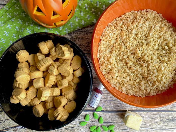 halloween rice krispies treats pumpkins ingredients