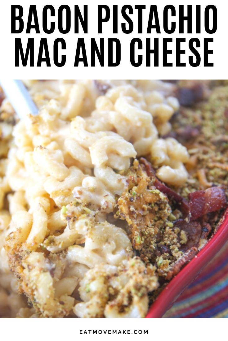 bacon pistachio mac and cheese