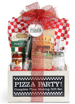pizza party gift basket
