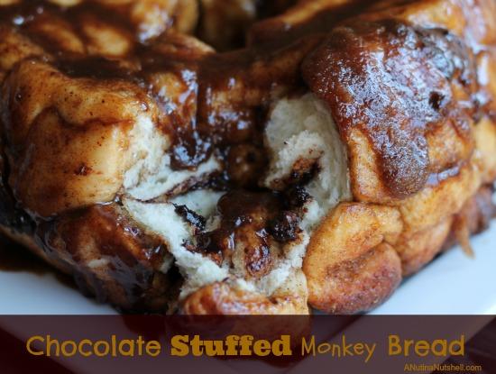 Chocolate Stuffed Monkey Bread on plate
