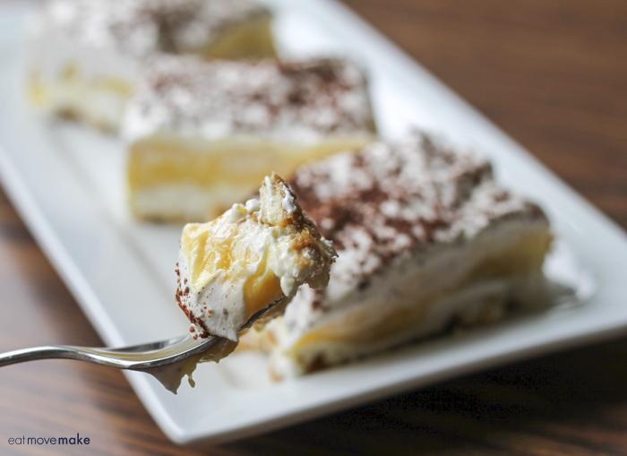 banana pudding square