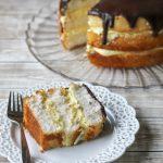 slice of Boston cream pie on plate