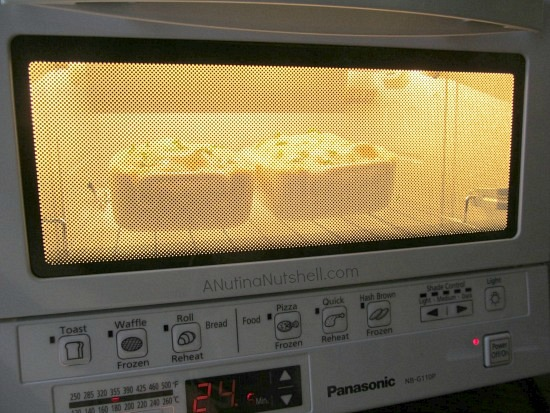 cooking pepper steak pot pies in toaster oven
