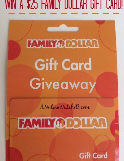 A close up of a Family Dollar gift card