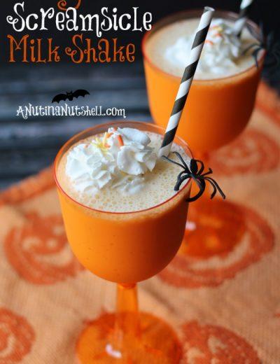 orange screamsicle milk shake