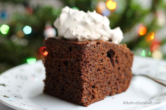 Gingerbread Cake with Splenda on plate