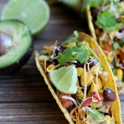 avocado and chicken taco