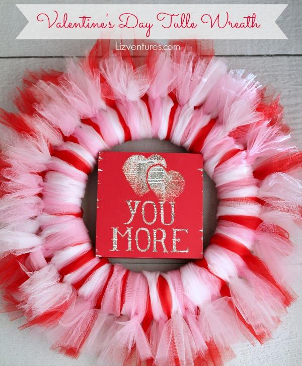 Valentine\'s Day tulle wreath