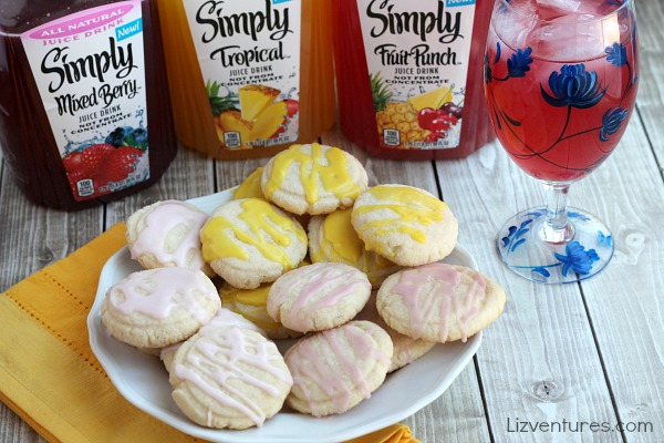 Simply Juice Drinks and cookies