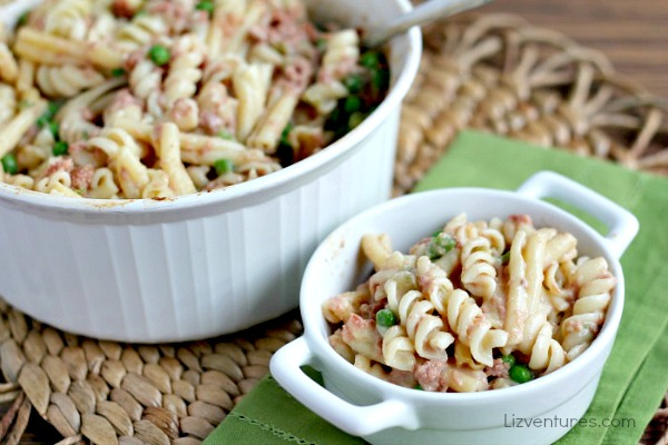 corned beef and noodles casserole in dishes