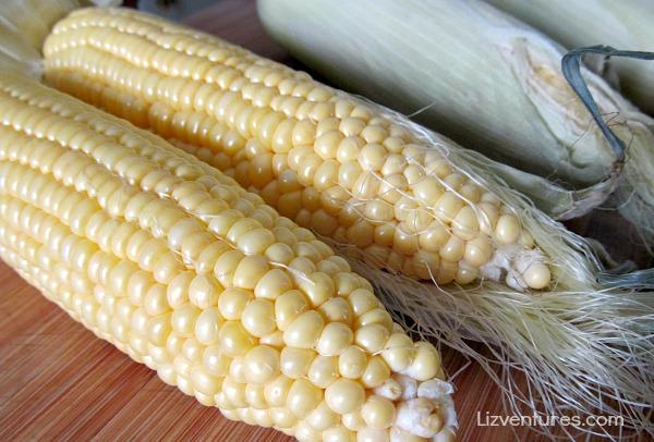 fresh sweet corn on the cob