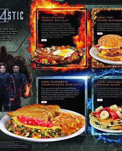 Denny's Fantastic 4 menu