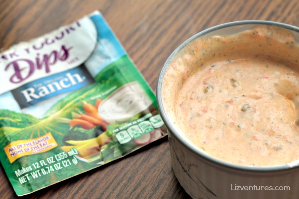 Sweet and Spicy Greek Yogurt Ranch Sauce in bowl