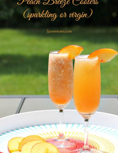 peach breeze coolers on tray
