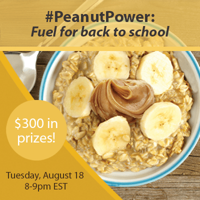 #PeanutPower Twitter Party Back to School