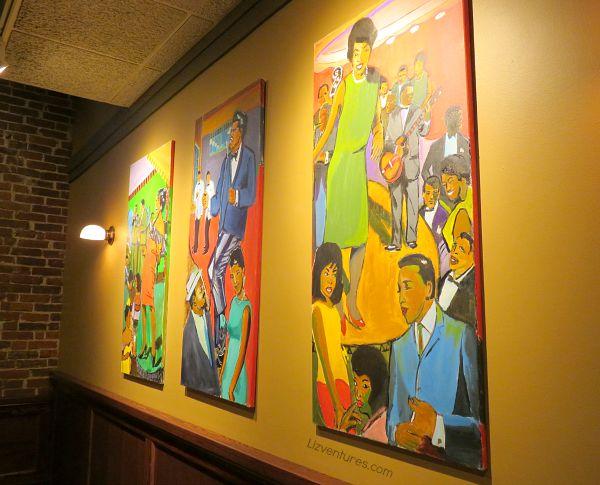 Uptown Cafe art - downtown Bloomington Indiana