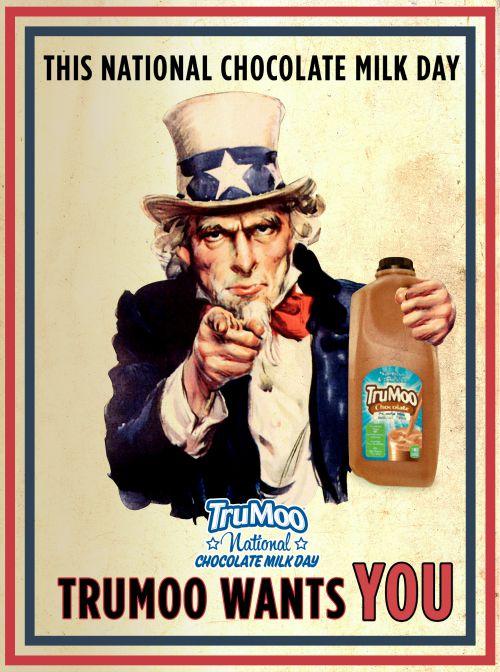 TruMoo UncleSam National Chocolate Milk Day
